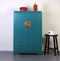 Custom make antique 2 door tall chinese wooden cabinet