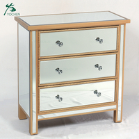 Mirrored furniture bedroom corner storage cabinet