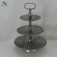 Wholesale cupcake stand metal 3 tier cake stand