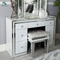 Factory Wholesale White Crushed Velvet Mirrored Stool