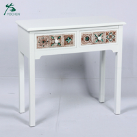 decorative living room colorful drawers white wooden console table