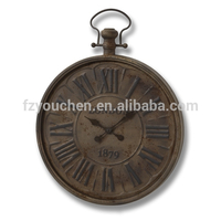 Antique brown Vintage London metal wall clock