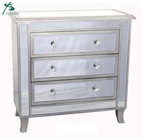 Gold Coast Vineyard 3-Drawer Mirrored Cabinet Weathered White