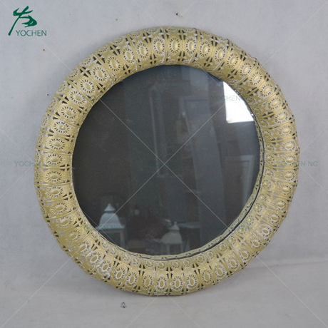 Vintage iron decoration mirror for wall