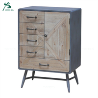 retro furniture wooden centre black buffet cabinet sideboard