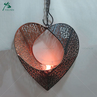 Handmade Heart Shape Candle Holder Metal Decorative