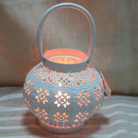 Tealight church candle holder lantern design