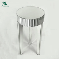 Home decoration wood glass round center table