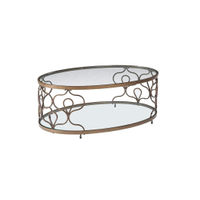 gold leaf modern tea table design coffee table