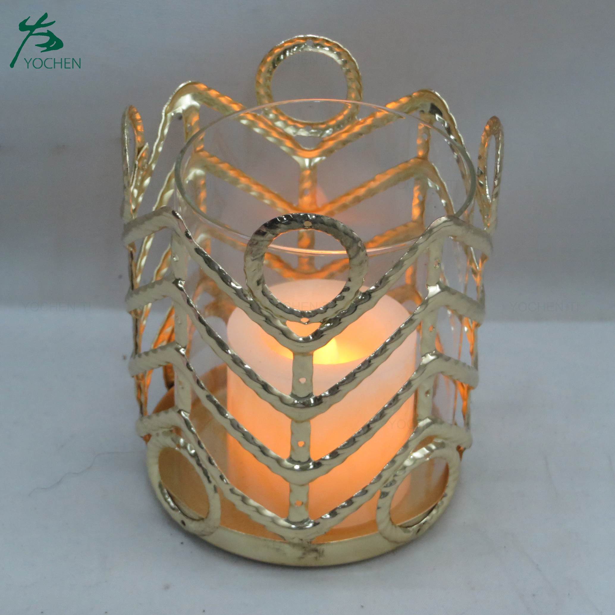 Tea light OEM metal candle stand / holder for home decoration