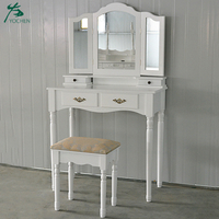 painted white dressing table wood bedroom make up table