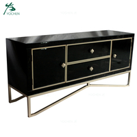 Mirrored furniture 2 drawers mirrored tv stand cabinet