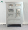 Home wood furniture silver 6 drawer wood chest