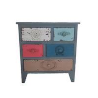 wholesale colorful shabby design home furnishings traditional accent wooden cabinet