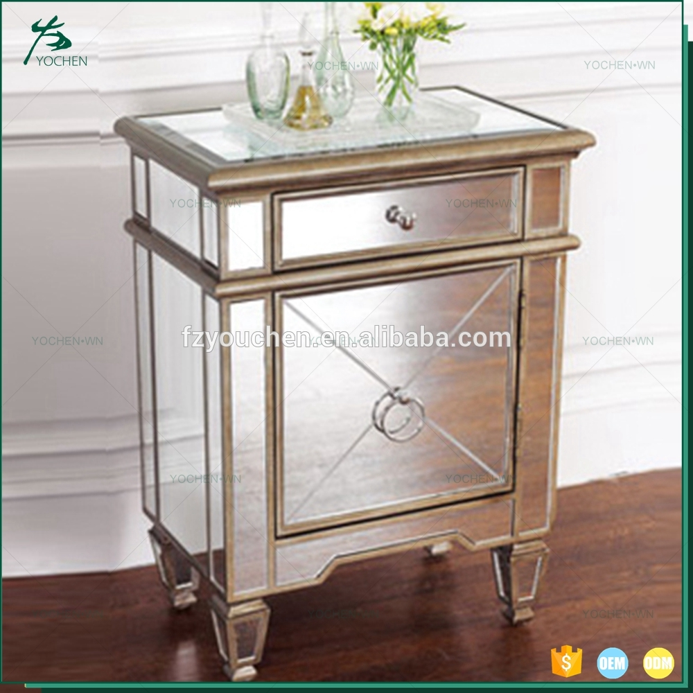 mirrored furniture luxury gold color painting beside table