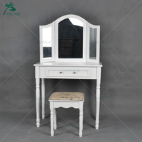 Modern Design Wooden Dressing Table With Mirror