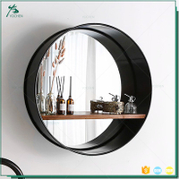 Home decor mirror decorative vanity modern wall round metal mirror