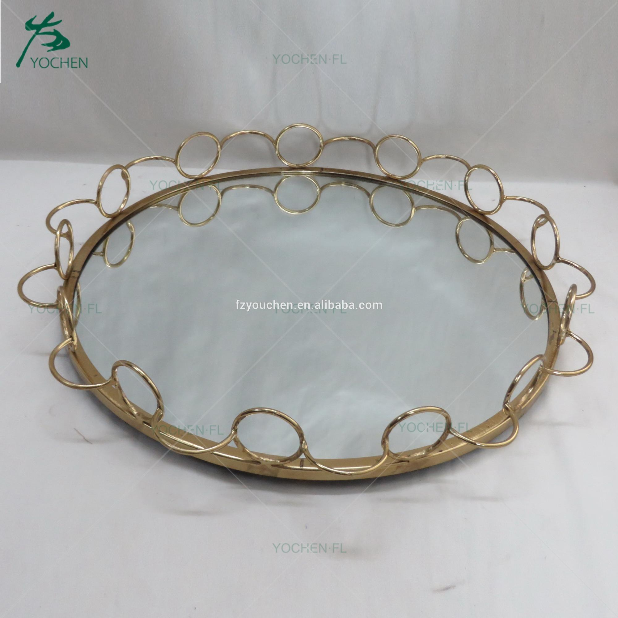 Asian decoration metal frame MDF base marble plate