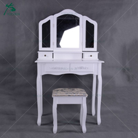 Bedroom wooden dressing table make up furniture make up table