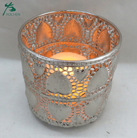 China manufacturer supply customized round metal candle holder