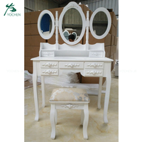 White Wood Cheap Vanity Modern Dressing Table Furniture