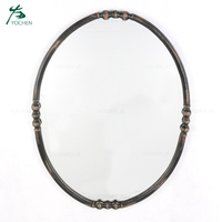 Home Decor Vintage Black Round Antique Mirror