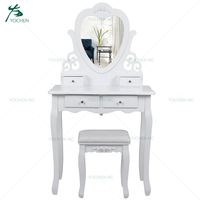 bedroom furniture white cosmetic table top dresser