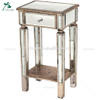 Modern light dark color wooden mirror side table