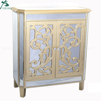 Low MOQ Mirrored Accent Chest 2-Door Accent Cabinet