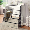 Vintage mirrored furniture round edge chest of drawer cabinet