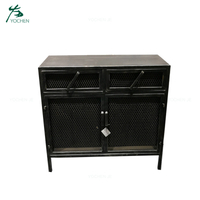 Home interior metal buffet cabinet industria sideboard