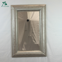 Metal frame mirror home decoration wall hanging mirror