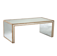 home furniture modern mirrored glass coffee table