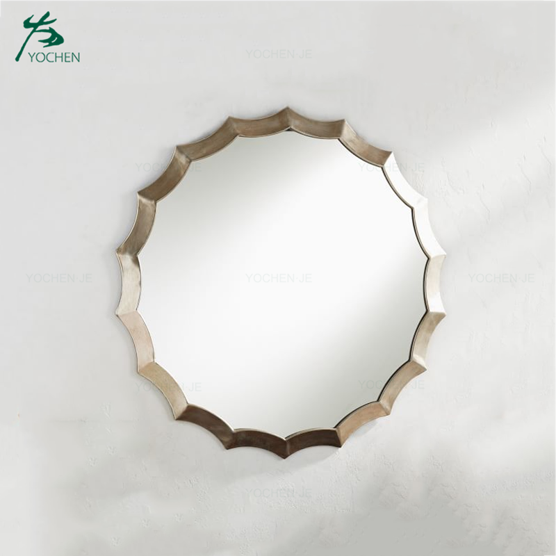 Home Design Decor Modern Metal Round Wall Mirror
