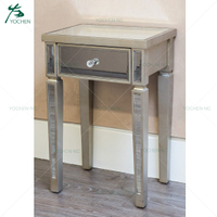 mirrored 2 drawer mirror furniture night stand