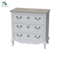 white wood panel wood 3 drawer file cabinet