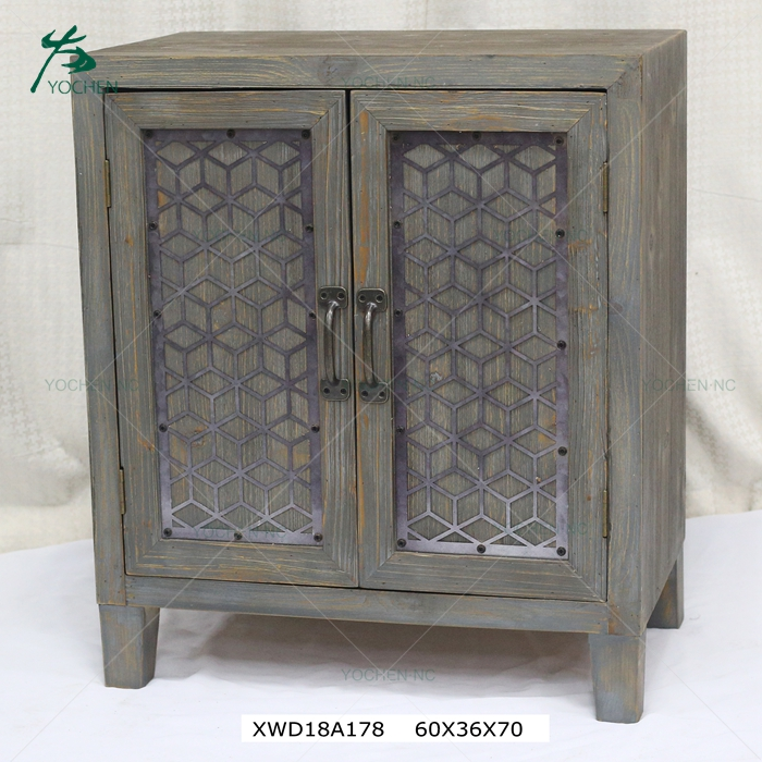 Antique almirah modern movable industrial accent wooden furniture