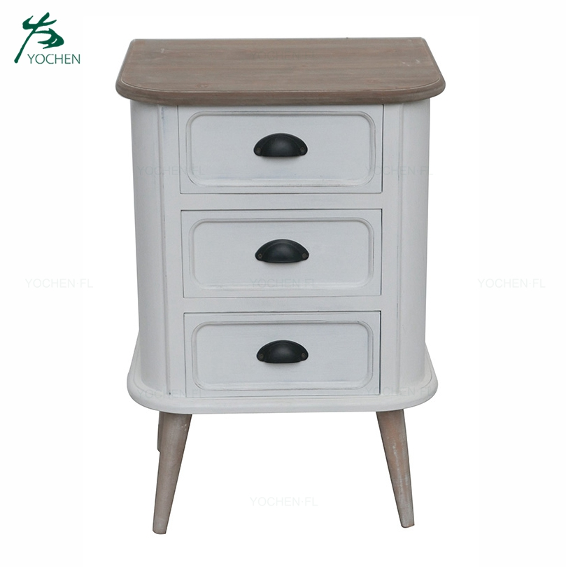 European style decorative wooden panel living room side cabinet