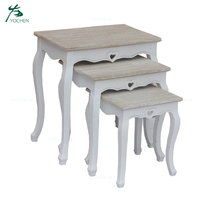 living room coffee end table wood nesting tables set