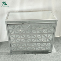 cheap wooden furniture living room decorative mirrored cabinet