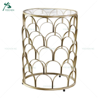 home decoration wooden round marble coffee table