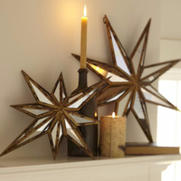 modern popular decoration star shape wall mirror