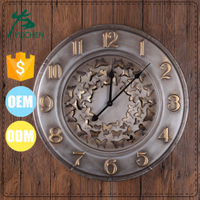 interior decoration item welding decoration wall clock