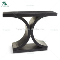 arabic living room furniture black wooden console table