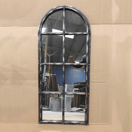 Wholesale shabby chic antique metal framed garden window mirror