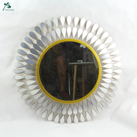 Wall Decor Mirror Sets Silver Sun Mirror Wall Decoration