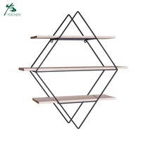 Display Rack Wood Storage Wall Mount Decorative Shelf