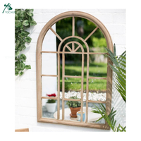 Wholesale Price Metal Garden Wall Mirror Arch Shape