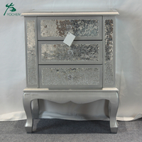 living room decorative wooden mirrored side cabinet