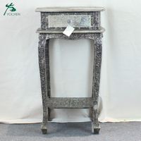 home interior room decorative mirror wooden cabinet